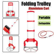 Foldable 170 LBS Cart Hand Truck Dolly Push Collapsible Trolley Moving Warehouse