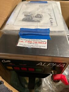 Curtis Alpha 3D Coffee Maker Not Used