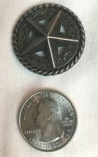 "Western Concho Small Raised Star Antique Silver 1-1/4"" New (B)"
