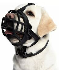 Soft Silicone Basket Dog Muzzle Prevent Biting Barking Chewing Snout Size 10-12�