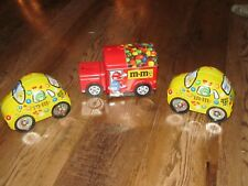 Lot of 3 M&M'S  Toy Metal Car Pre-owned Good Condition