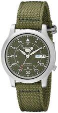 *Brand New* Seiko Men's Green Dial Green Canvas Strap Analog Dial Watch Snk805