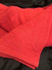 FAB! VTG Ralph Lauren Window Pane Dusty Rose Twin Blanket 100%Cotton Made in USA