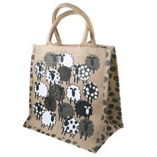 SHEEP JUTE SHOPPING BAG natural white grey black dotty fair trade eco shopper BN