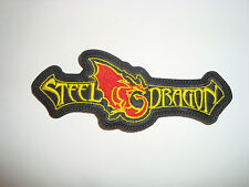 STEEL DRAGON - LOGO Embroidered PATCH Rockstar Movie Steel Panther Motley Crue