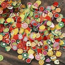 MINIATURE FIMO POLYMER CLAY 3D NAIL STICKERS FRUIT SLICES-CRAFT DOLLS HOUSE MINI