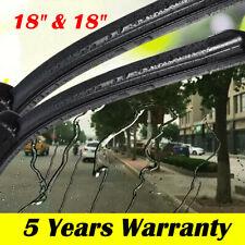 "18""& 18"" Windshield Wiper Blades Premium Hybrid Rubber J-Hook High Quality Pair"