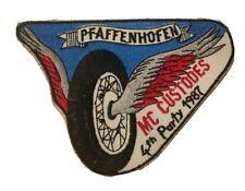 """MC Custodes Pfaffenhofen """"4. Party"""" 1987 extrem selten Patch Biker Aufnäher Rar"""