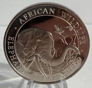 2018 Somali African Wildlife Elephant 1 Ounce .9999 Fine Silver Coin