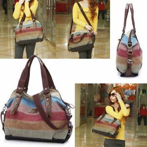 Women Fashio Canvas Bag Shoulder Tote Purse Crossbody Messenger Satchel Handbag