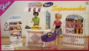 Gloria Barbie Size Dollhouse Furniture Supermarket Play Set