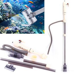 Battery Fish Tank Aquarium Vacuum Gravel Cleaner Hoover Siphon Pump Water Syphon