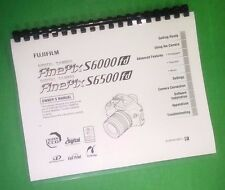LASER PRINTED Fujifilm S6000fd S6500fd FinePix Camera 196 Page Owners Manual Gui