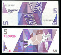 Aruba 5 Florins 1990 P 6 UNC