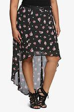 NWT Torrid Women's Plus Size 16W Floral Polka Dot Hi- Lo Maxi Skirt