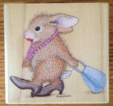 Happy Hoppers House Mouse Rubber Stamp Fancy Pants Bunny HMG1013 Stampabilities