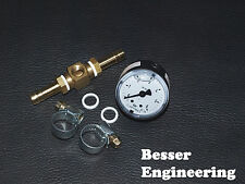 Benzindruck Manometer Anzeige 0-6bar + Adapter universell! C20XE C20LET VR6 G60