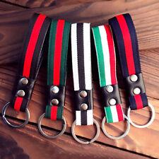 Fashion Leather Metal Car Keychain Keyring Purse Bag Key Chain Ring Keyfob