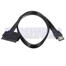 12V 5V Combo Power eSATA USB 2.0 To 22Pin SATA Hard Disk HDD Drive Adapter Cable
