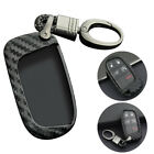 Carbon Fiber Key Fob Chain For Jeep Dodge Chrysler Accessories Cover Case Ring  for sale