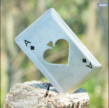 5pcs Metal Outdoor Poker Playing Cards Throwing Toy Creative Bottle Opener