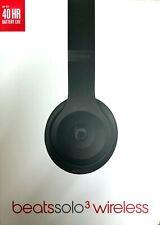 Beats by Dr. Dre Solo3 Wireless On-Ear Headphones - Matte Black (BNIB)