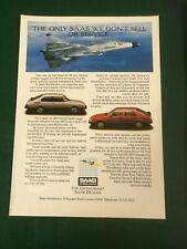 SAAB 900 9000 & AIRCRAFT 1986 POSTER ADVERT READY FRAME A4 SIZE B