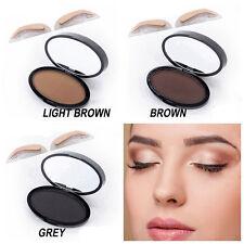 Natural Eyebrow Powder Makeup Brow Stamp Seal Palette Definition Kit Waterproof