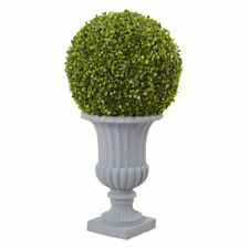 Nearly Natural 2.5 ft. Boxwood Topiary, Green