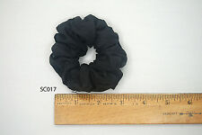 Silk Hair Scrunchies Ponytail Holder Elastic Ties Hair Band Black Dk. Grey SC017
