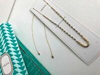 New NIB Stella & Dot Rhett necklace lariat  choker Gold Silver