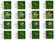 feuille de 16 timbres adhésifs coupe du monde de rugby 2007, NEUVE, non pliée