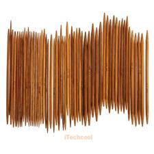 55Pcs 11sizes 5'' 13cm Double Pointed Carbonized Bamboo Knitting Needles #T1K