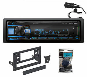 1-Din Alpine Digital Media Bluetooth Stereo Receiver For 1987-93 Ford Mustang