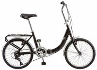 Schwinn Loop 7 Speed FOLDING BICYCLE, 20 Inch City Cycling FOLDING BIKE, Black