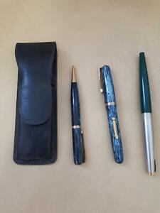 Vintage Parker pens 3 piece fountain ballpoint pencil set