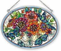 Amia 41381 Butterfly Surprise 7 by 5-1//2-Inch Oval Sun Catcher Medium