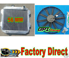 NEW ALUMINUM RADIATOR & FAN FORD CAPRI II MK1 2600/2800 V6 LHD US-SPEC MT 71-77