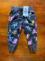 Bonds Bluey Charcoal Dark Grey Trackie Track Pants Size 1 BNWT Bingo Coco Chloe