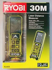 RYOBI 30m LASER DISTANCE MEASURER RLM30 LCD area,volume + pythagoras calculation