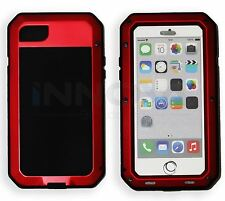 Heavy Duty Shockproof Aluminum Metal Cover Case Apple iPhone Models 7 7S Red
