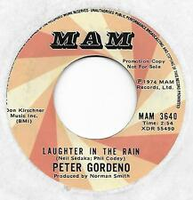 "PETER GORDENO on MAM (promo) - ""LAUGHTER IN THE RAIN"" (Sedaka)   [SOLID VG+]"