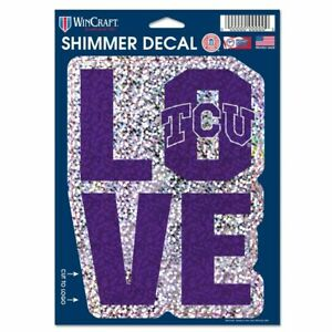 TCU DECAL SHIMMER WITH HOLOGRAPHIC BACKGROUND 5 X 7 NEW