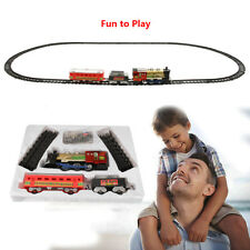 Radio Remote Control RC Electric Train Rail Set With Light & Music Kids Toy Gift