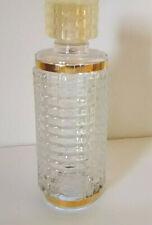 Vintage hobnail clear crystal perfume cologne bottle gold trim estate vanity!