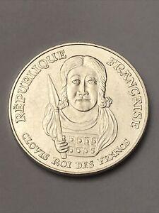 Piece De 100 Francs Clovis En Argent
