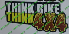 Think Bike Think 4x4 Funny Off Road Sticker Decal Land rover Toyota Suzuki Jeep