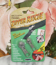 ~~ONE (1) 2-PACK ZIPPER RESCUE  ONE SMALL ONE MEDIUM NO TOOLS NEEDED~IMMED SHIP!
