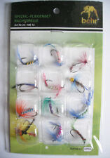 12PCS FISHING Fly Feather HOOKS Tackle Fishhook