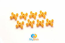 8x Lego Knob Gear Wheel Yellow - 32072
